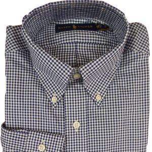 Polo Ralph Lauren Dress Shirt Gingham Blue White